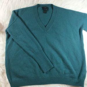 J Crew Italian Cashmere Boyfriend V-neck Sweater S
